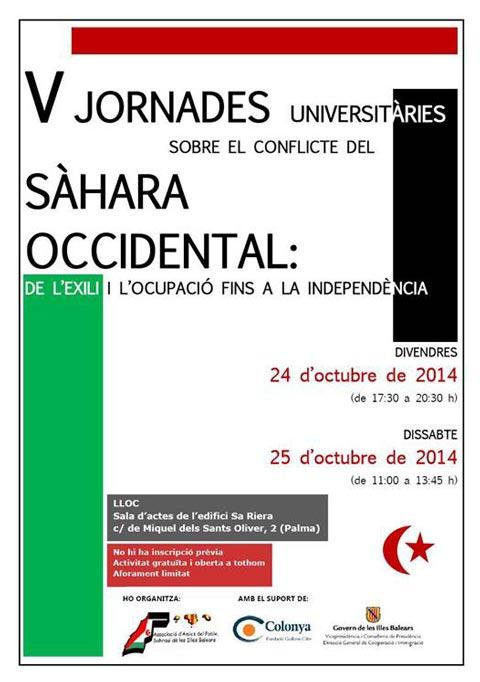 V Jornades Universitàries sobre el conflicte del Sàhara Occidental (24 i 25 d'octubre)
